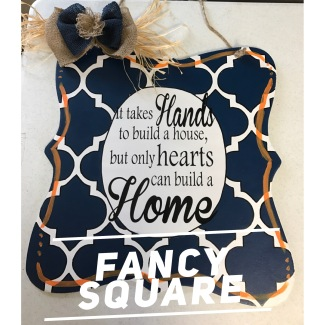 Fancy Square / multiple fonts $35 Adult Shape