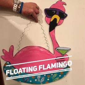 Floating Flamingo / $35 Adult Shape