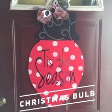 Christmas Bulb / Jenna Sue Font $35 Adult Shape