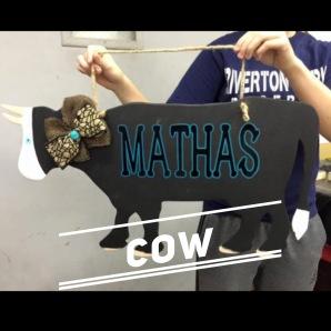 Cow / Janda Closer Font $35 Adult Shape