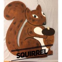 Squirrel / Curlz font $35 Adult Shape