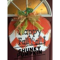 Chunky Pumpkin / Janda Closer Font $35 Adult Shape