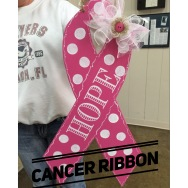 Cancer Ribbon / Ecuyer Dax Font $35 Adult Shape
