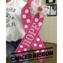 Cancer Ribbon / Ecuyer Dax Font $35 Adult Shape