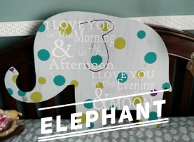 Elephant / Multiple Fonts $35 Adult Shape