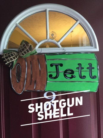 Shotgun Shell / Janda Closer font $35 Adult Shape