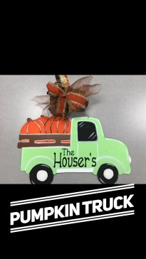 Pumpkin Truck / Apple Butter font $35 Adult Shape