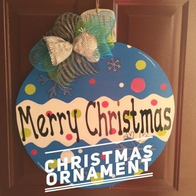 Christmas Ornament / Apple Butter Font $35 Adult Shape
