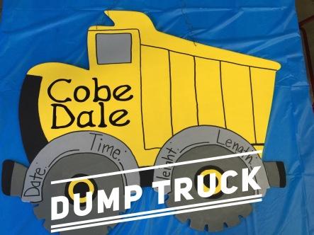 Dump Truck / Apple Butter Font $35 Adult Shape