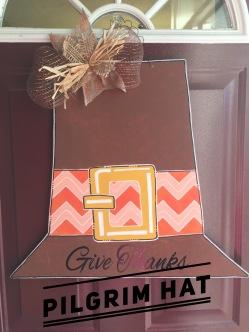 Pilgram Hat / Alex Brush font $35 Adult Shape