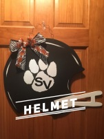 Helmet / Arial Font $35 Adult Shape