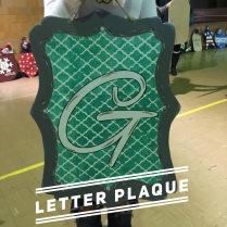 Letter Plaque / Alex Brush font $35 Adult Shape