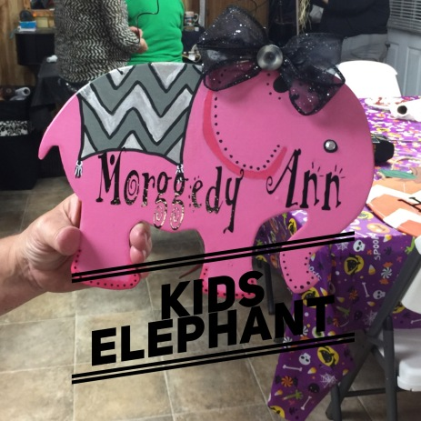 Kids Elephant / AR Hermann font $15 kids shape