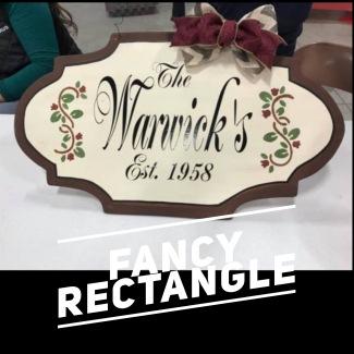 Fancy Rectangle / Majestic Font $35 Adult Shape