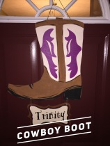 Cowboy Boot / AR Hermann Font $35 Adult Shape
