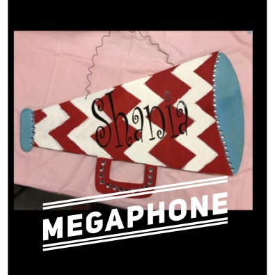 Megaphone / Curlz font $35 Adult Shape
