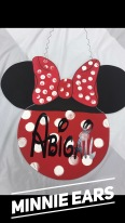 Minnie Ears / Disney font $35 Adult Shape