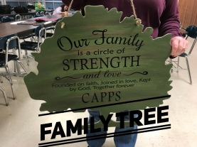 Family Tree / multiple fonts $35 Adult Shape