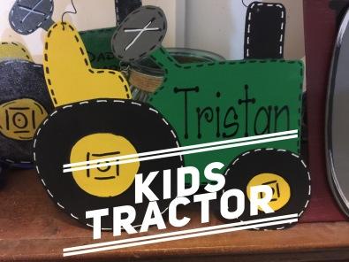 Kids tractor / Janda Scrapgirl font $15 kids shape