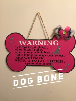 Dog Bone / Georgia Bold Font $35 Adult Shape