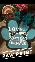 "Paw Print / Choose ""Just like picture"" for font option $35 Adult Shape"