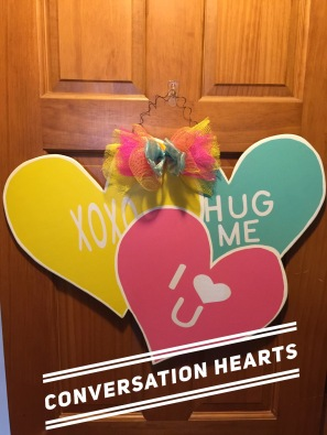 "Conversation Hearts / choose ""Just like picture"" option for font $35 Adult Shape"