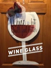 Wine Glass / Honey Script font $35 Adult Shape