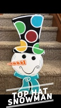 Top Hat Snowman / $35 Adult Shape