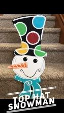 Top Hat Snowman / $35 Adult Shape