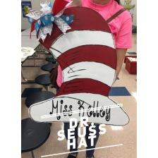 Dr. Seuss Hat / Curley Shirley Font $35 Adult Shape