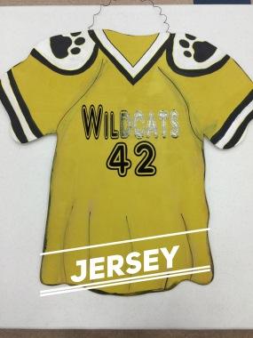 Jersey / AR Delaney font $35 Adult Shape
