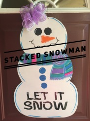 Stacked Snowman / Wavy Font $35 Adult Shape