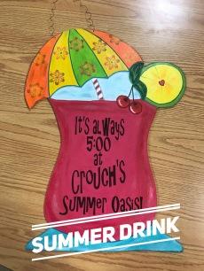 Summer Drink / AR Christy font $35 Adult Shape