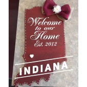 Indiana / Majestic font $35 Adult Shape