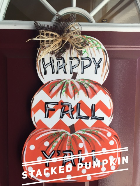 Stacked Pumpkin / Wavy font $35 Adult Shape