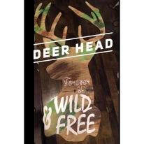 Deer Head / multiple fonts $35 Adult Shape