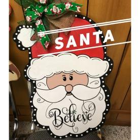 """Santa / Choose """"Just like picure"""" for font option $35 Adult Shape"""