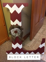 Block Letter (can be any letter) $35 Adult Shape