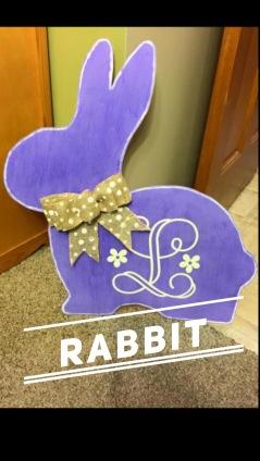 Rabbit / Vine Mongram Font Adult $35 Shape