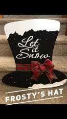 """Frosty's Hat / Choose """"Just like picture"""" for font option $35 Adult Shape"""