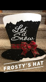 "Frosty's Hat / Choose ""Just like picture"" for font option $35 Adult Shape"