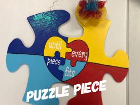 Puzzle Piece / Jester font / Adult $35 Shape
