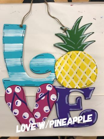 Love w/pineapple / Adult $35 Shape