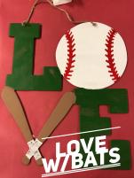 LOVE w/bats $35 Adult Shape