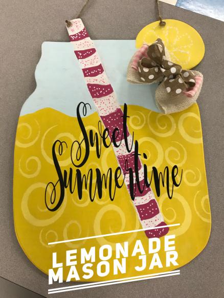 Lemonade Mason Jar /Magnolia Sky Font $35 Adult Shape