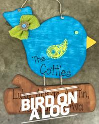 Bird on a Log / Janda Scrapgirl Dots font $35 Adult Shape