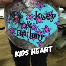 Kids Heart Romance Fatal Serif Font ($15 Kids Shape)