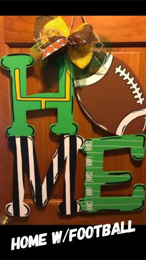 HOME w/Football ($35 Adult Shape)