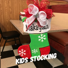 Kids Stocking / Jester Font ($15 Kids Shape)