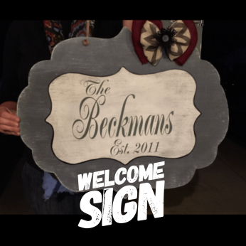 Welcome Sign / Majestic Font ($35 Adult Shape)